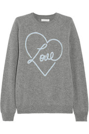 Chinti and Parker Love-intarsia cashmere sweater