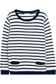Chinti and Parker Striped merino wool sweater