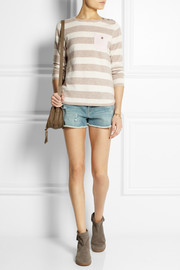 Chinti and Parker Contrast-pocket striped cashmere sweater