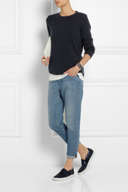 Chinti and Parker Shirt Hem cashmere sweater