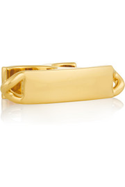Maison Martin Margiela Gold-plated two-finger ring