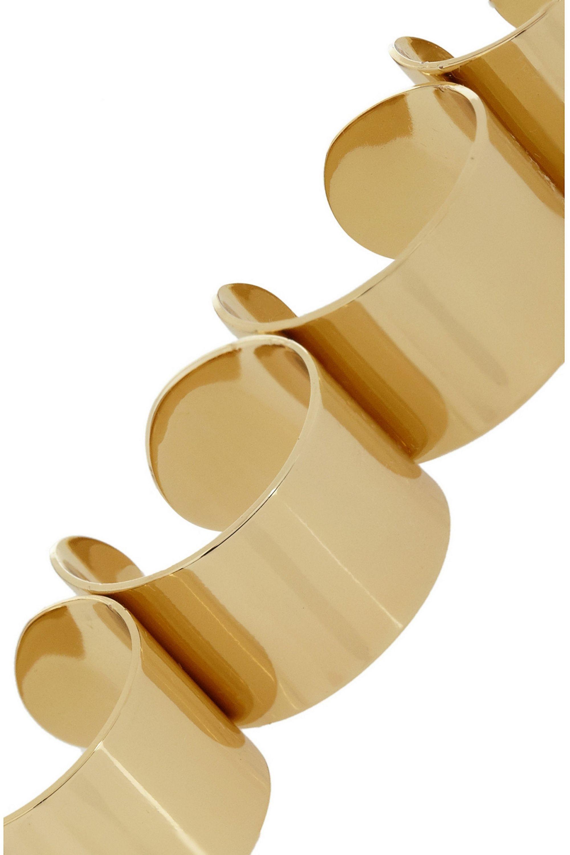 Maison Margiela Set of four gold-tone rings