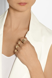Maison Martin Margiela Set of four gold-tone rings