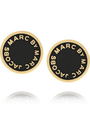 Marc by Marc Jacobs Enameled gold-tone earrings