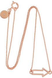 Arrow rose gold-plated necklace