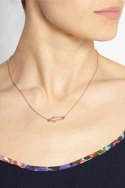 Marc by Marc Jacobs Arrow rose gold-plated necklace
