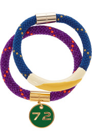 Marc by Marc Jacobs Set of two braided cord and enamel bracelets