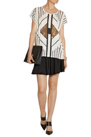 Sass & bide Anything Goes embellished slub cotton T-shirt
