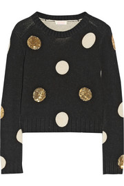 Sass & bide Between Ordinary embellished cotton and wool-blend sweater