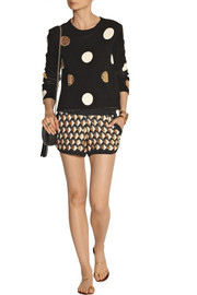 Sass & bide Tiny Creatures embellished metallic knittted shorts
