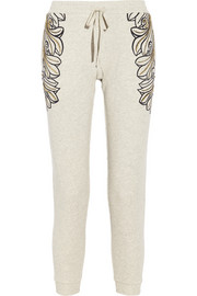 Sass & bide State of Mine embellished cotton French terry track pants