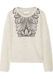 Sass & bide Changing Times embellished cotton French terry sweatshirt