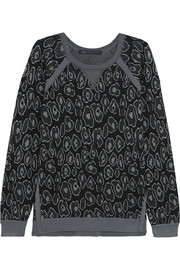 Marc by Marc Jacobs Cassidy leopard-jacquard sweatshirt