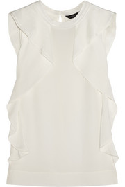 Marc by Marc Jacobs Frances ruffled silk crepe de chine top