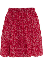 Marc by Marc Jacobs Printed cotton and silk-blend mini skirt