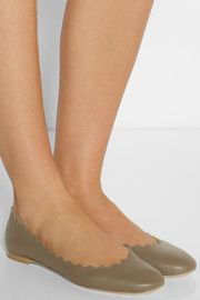 Chloé Lady scalloped leather ballet flats