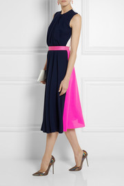 Roksanda Ilincic Sessler color-block wool-crepe dress