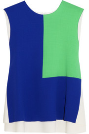Roksanda Ilincic Saunton color-block wool-crepe top