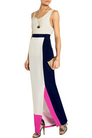 Roksanda Ilincic Ayton color-block silk-crepe maxi skirt