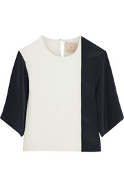 Roksanda Ilincic Ayton two-tone silk top