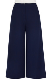 Hepworth wool-crepe wide-leg culottes