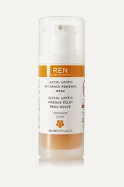 REN Skincare Glycol Lactic Radiance Renewal Mask, 50ml