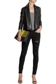 Vivienne Westwood Anglomania Renee felt-paneled leather jacket