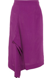 Solstice draped crepe skirt