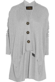 Vivienne Westwood Anglomania Voyage draped ribbed-knit cardigan