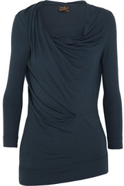 Vivienne Westwood Anglomania Fracture draped stretch-jersey top