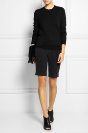 Maison Martin Margiela Leather-trimmed wool and cotton-blend sweater