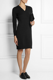 Maison Martin Margiela Satin-trimmed wool and cotton-blend sweater dress