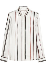 Maison Martin Margiela Striped silk-twill shirt
