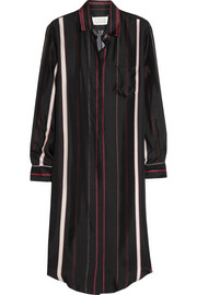 Maison Martin Margiela Striped silk-twill shirt dress