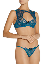 Agent Provocateur Cassia lace and tulle underwired bra