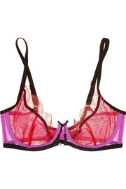 Megan lace and stretch-tulle underwired bra