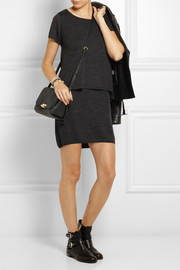 Duffy Layered wool mini dress
