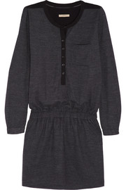 Burberry Brit Georgette-paneled wool-blend jersey mini dress