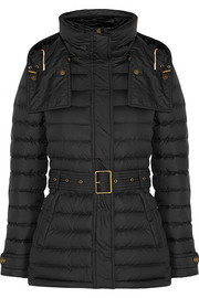 Quilted shell coat