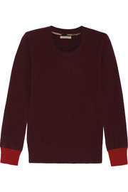 Burberry Brit Elbow-patch cashmere sweater