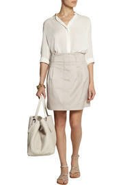 Burberry Brit Stretch cotton-blend mini skirt