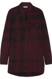 Burberry Brit Checked cotton-blend shirt