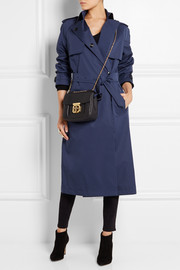 Burberry London Leather-trimmed cotton-blend gabardine trench coat