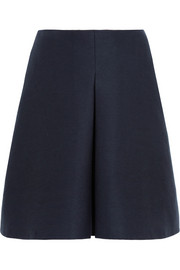 Burberry London Cotton and silk-blend skirt