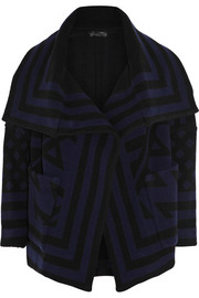 Burberry Prorsum Striped wool-blend jacket