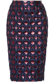 Burberry Prorsum Metallic brocade pencil skirt
