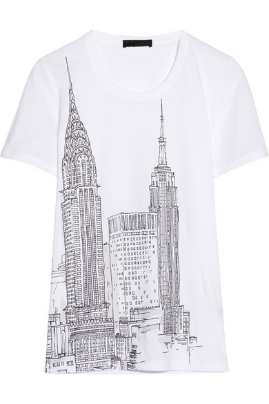 Burberry new york city printed cotton jersey t shirt for New york printed t shirts