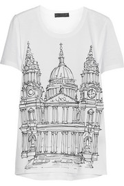 Burberry Prorsum London printed cotton-jersey T-shirt