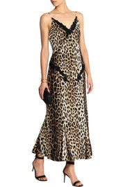 Moschino Cheap and Chic Leopard-print silk-blend slip dress