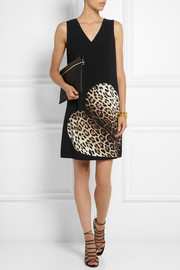 Moschino Cheap and Chic Leopard-print crepe mini dress